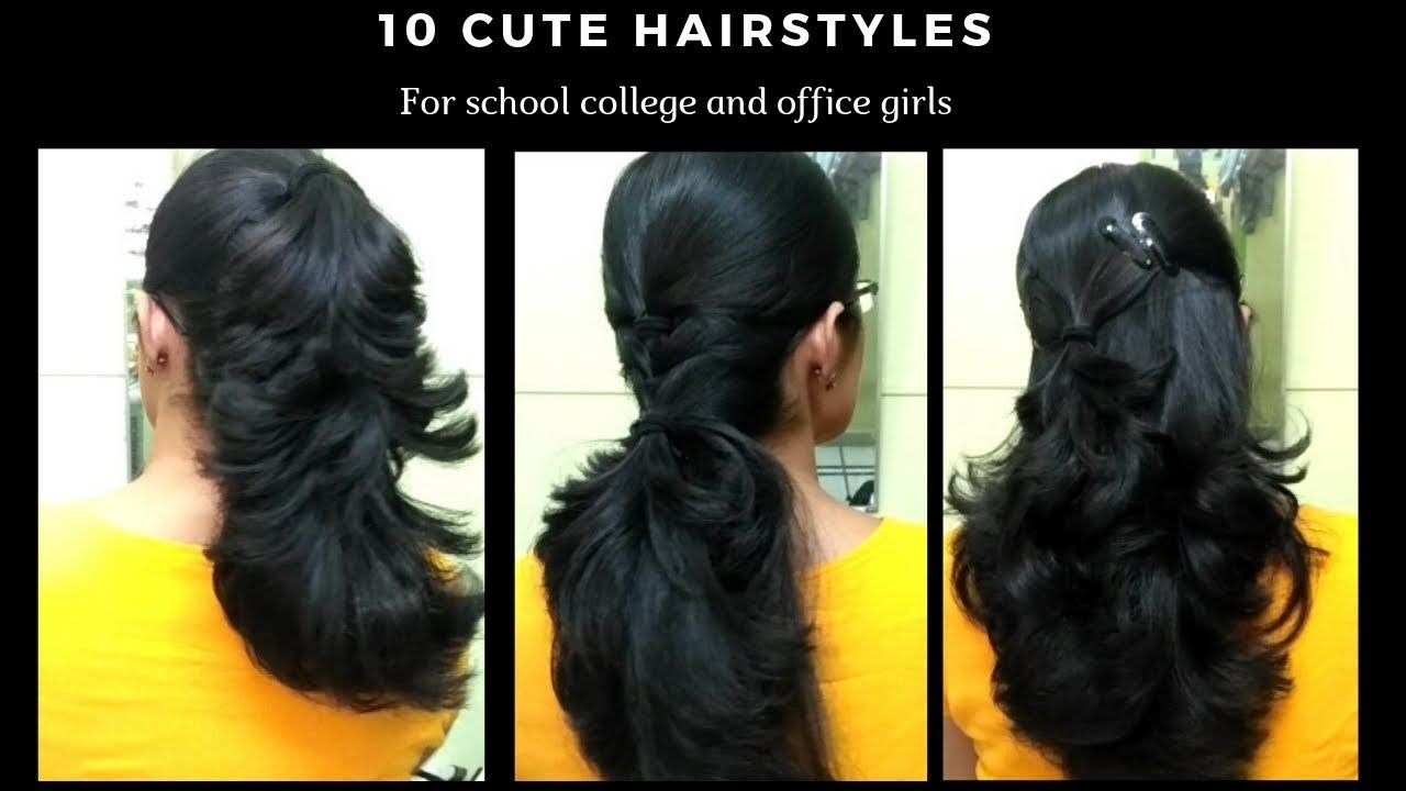 10 Easy Hairstyle For Short Hair Best Hairstyle For Girls Latest 2019 Hairstyles 10easy Cool Hairstyles For Girls Hair Styles Short Hair Styles Easy