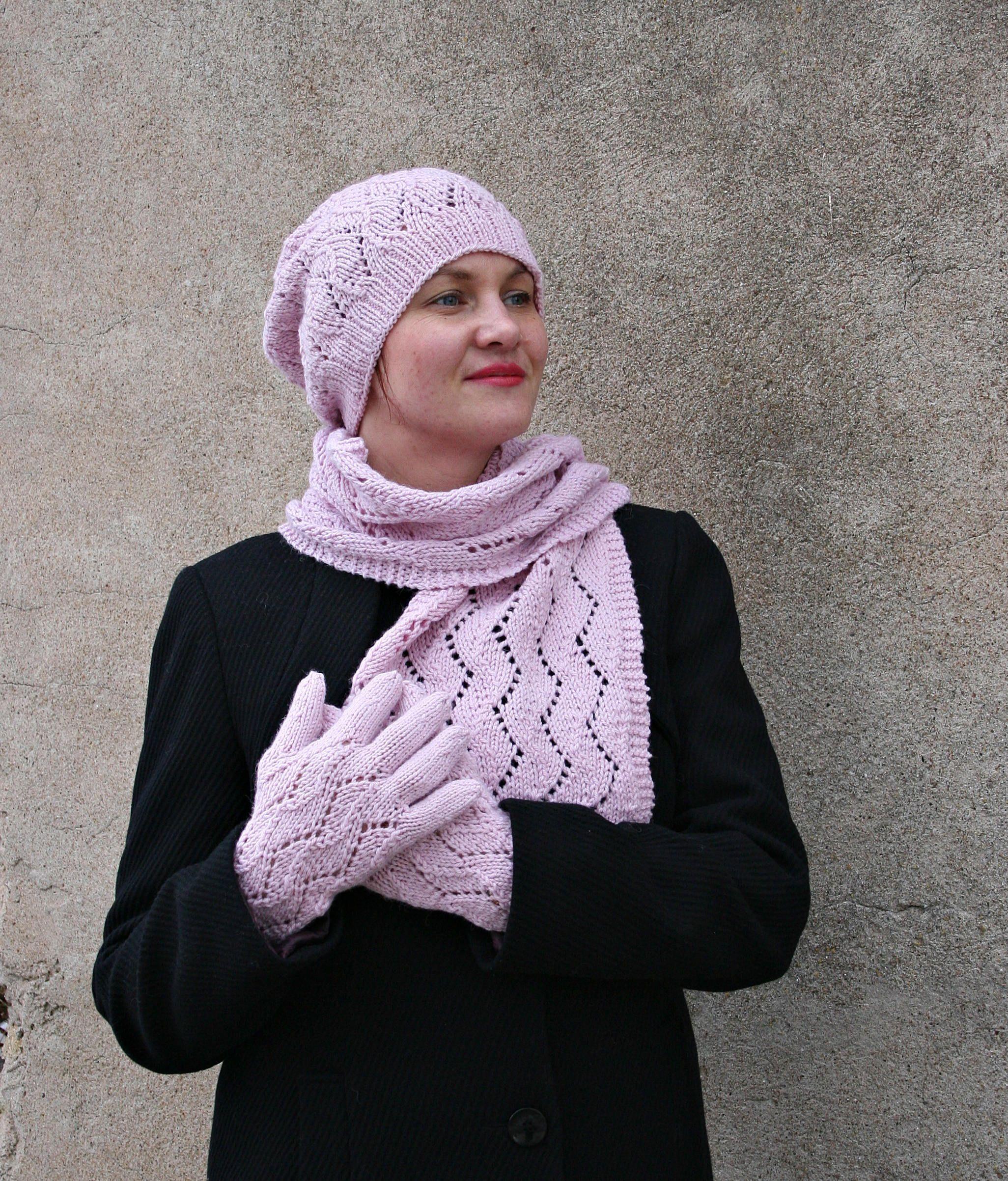736fb13b8 Pink winter set, hat scarf set, alpaca scarf hat, pink gloves, pink ...