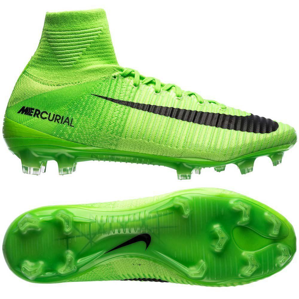 sale retailer d820e 1bb66 ... real nike mercurial superfly v fg soccer cleats mens size us 10.5 green  831940 305 3f4fc
