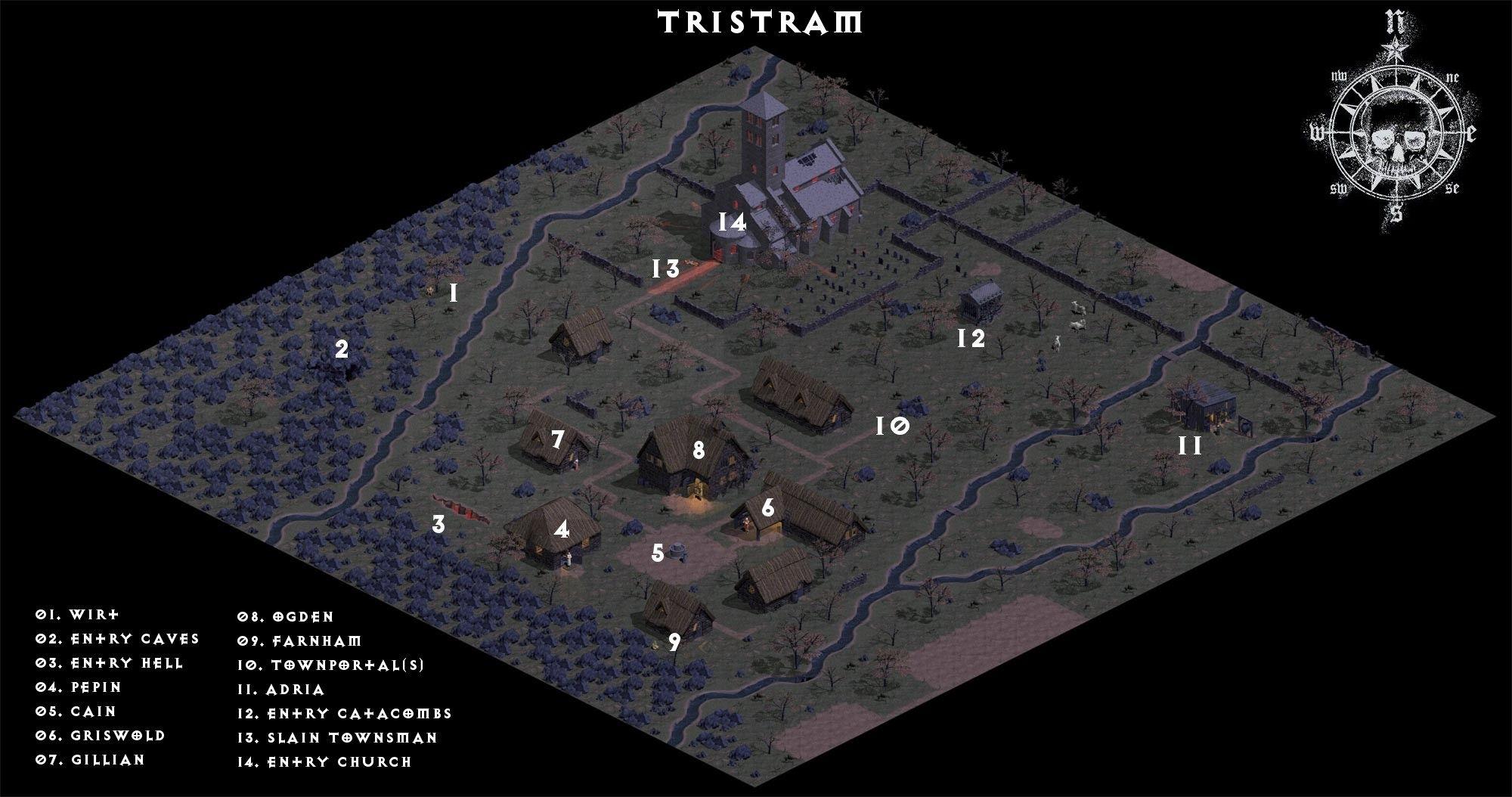 Tristram Map Diablo 1 layout   Garden Ideas   Pinterest
