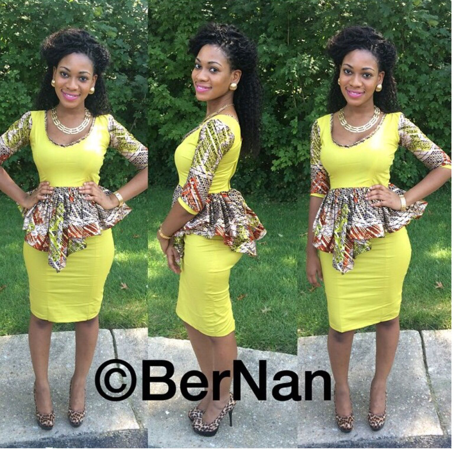 Bernan Clothing African Fashion Ankara Kitenge African Women Dresses African Prints
