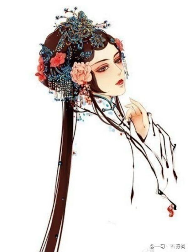 花开只为蝶恋香,片片残红暗带伤。凡尘往事如旧梦,回忆一生锁朱窗。