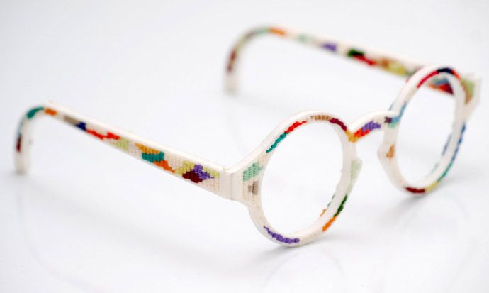 EYE WEAR GLASSES: 3D printed glasses #1: a cross-stitch eyewear ...