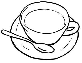 draw a cup of coffee in cartoon