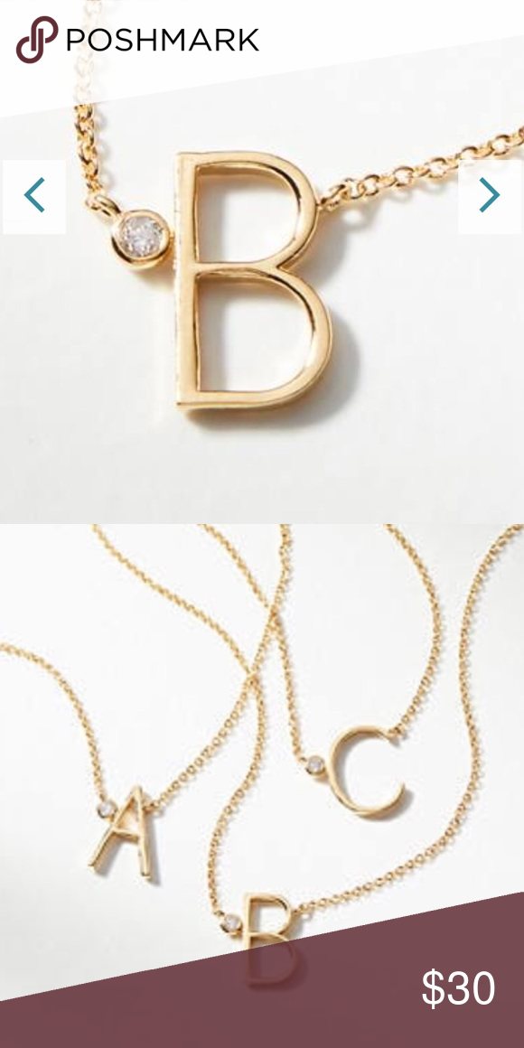 Anthropologie Delicate Monogram Necklace UCAKJs