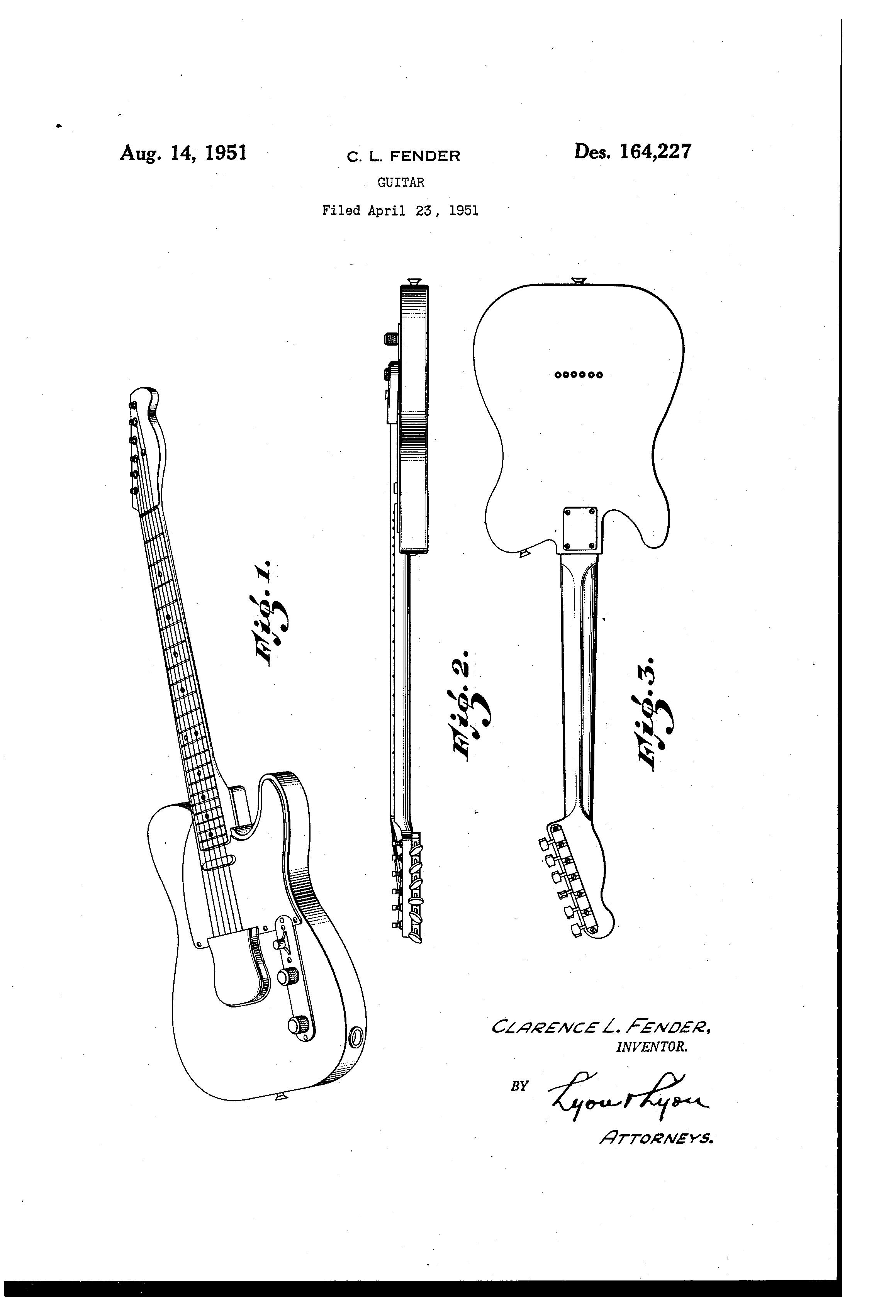 hight resolution of patent usd164227 fender guitar google patents
