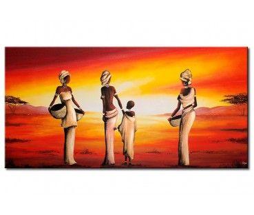 Tableaux Africains Et Ethniques Paysages Africains