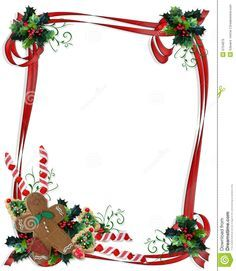 Free Christmas Cookie Border And Illustration Composition