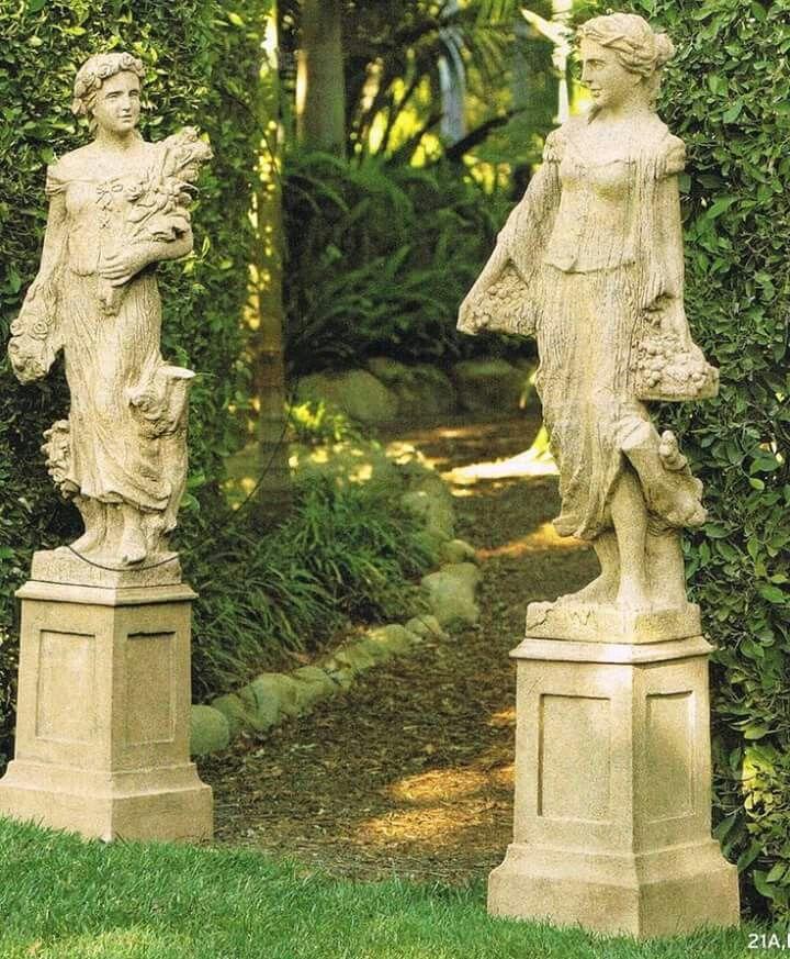 Pin By Felipeeee On Beautiful Exteriors Garden Statues Landscape Design Statuary