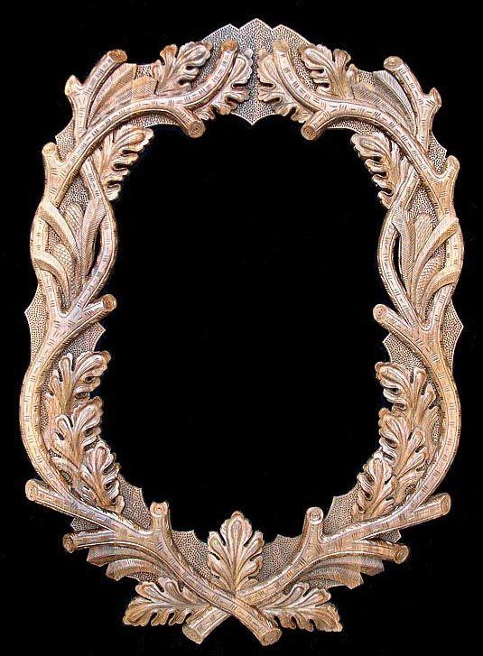 Ideal Oval Black Forest Custom Hand Carved Mirror Frame | Black forest  PY85