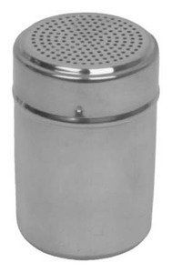 Stainless Steel Sugar Flour Salt Shaker Dispenser H002 by JapanBargain. $1.99. Polished stainless steel finish with uniform holes. Easy Handling. For dispensing flour, sugar and more.. Polished stainless steel finish with uniform holes. Easy Handling. For dispensing flour, sugar and more. * Capacity: 10 oz * Material: Stainless Steel * Dimension: 2-5/8in Dia x 3-7/8in H