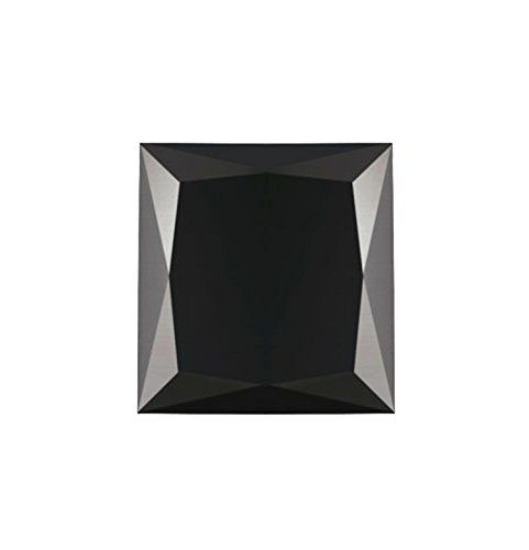 4.74 Carat Certified Fancy Black Not Specified Princess Loose Black Diamond $1,110.00