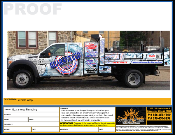 New Fleet Wraps For Guaranteed Plumbing S Ford 550 Dump Truck