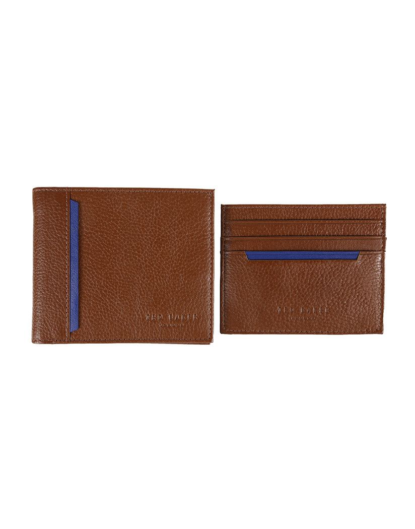 ba54fa6b4 Ted Baker Men s Digessy Grain Wallet and Card Holder - Tan - Men s Leather  Wallets