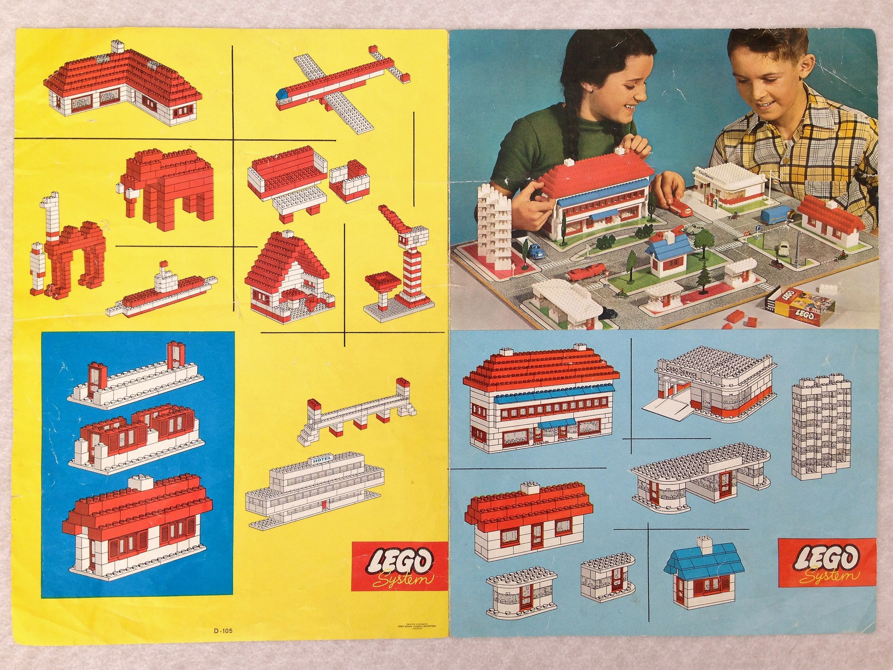Rare Lego 810 City Instruction Plans Sheet 1