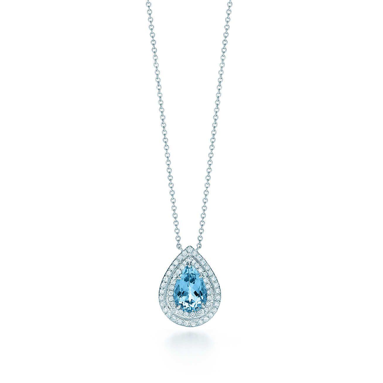 Tiffany soleste aquamarine and diamond pendant aquamarines tiffany soleste aquamarine and diamond pendant aloadofball Image collections