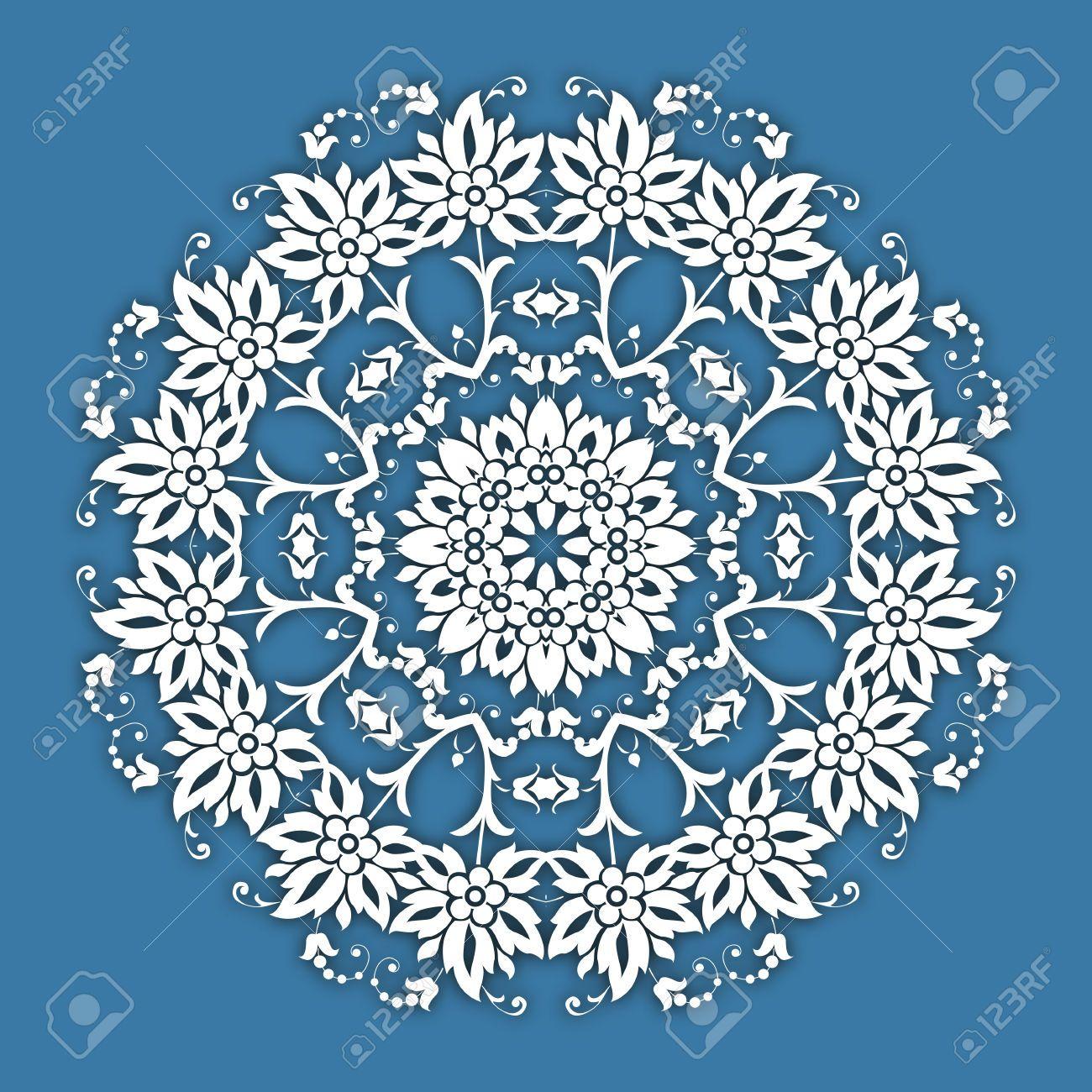 Resumen De Vectores Frontera Del Círculo Ornamental Floral. Vector ...