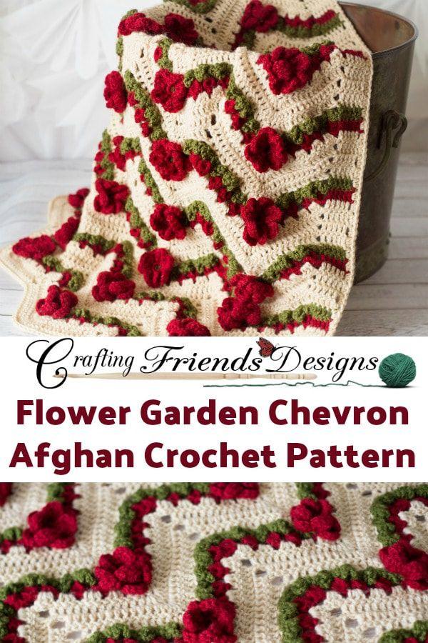 Famoso Chevron Patrón De Crochet Manta Fotos - Manta de Tejer Patrón ...