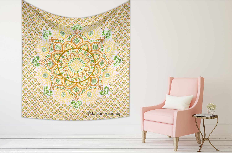 Hippie Dorm Decor Mandala Tapestry Indian Wall Hanging Bedspread ...