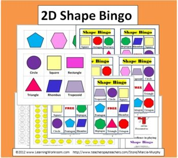 photo relating to Shape Bingo Printable known as Bingo Printable - 2D Styles Bingo Match Facilities and Minimal