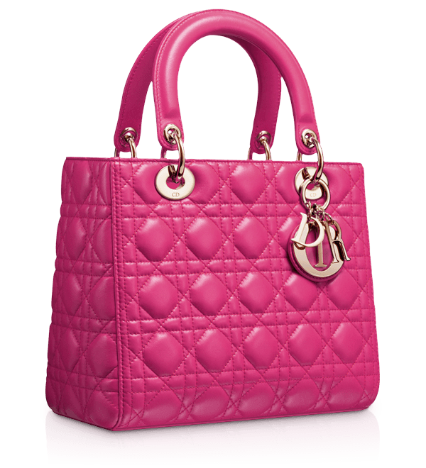 7b514bd6ecc LADY DIOR - Rose Royale leather