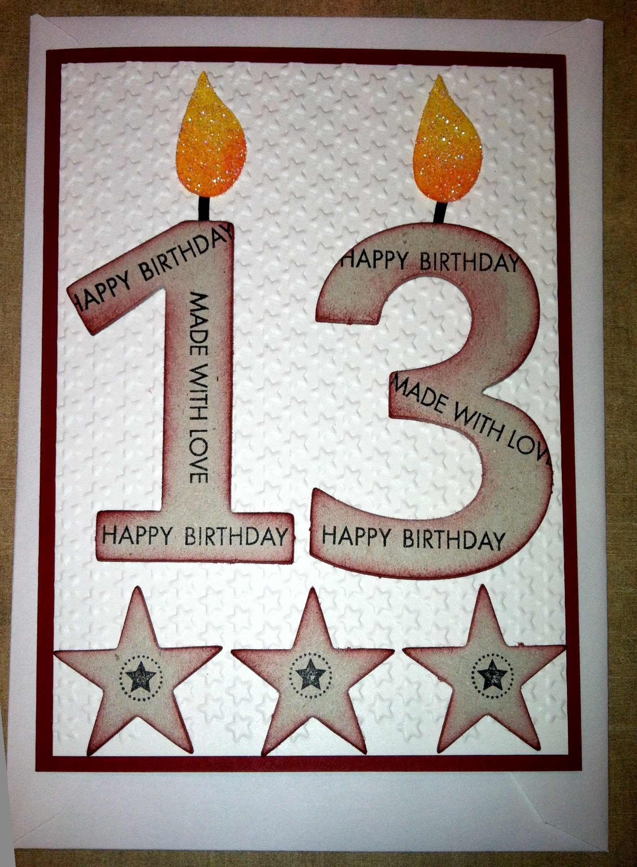 My grandsons 13th birthday card Card Making Ideas – 13 Birthday Card Ideas