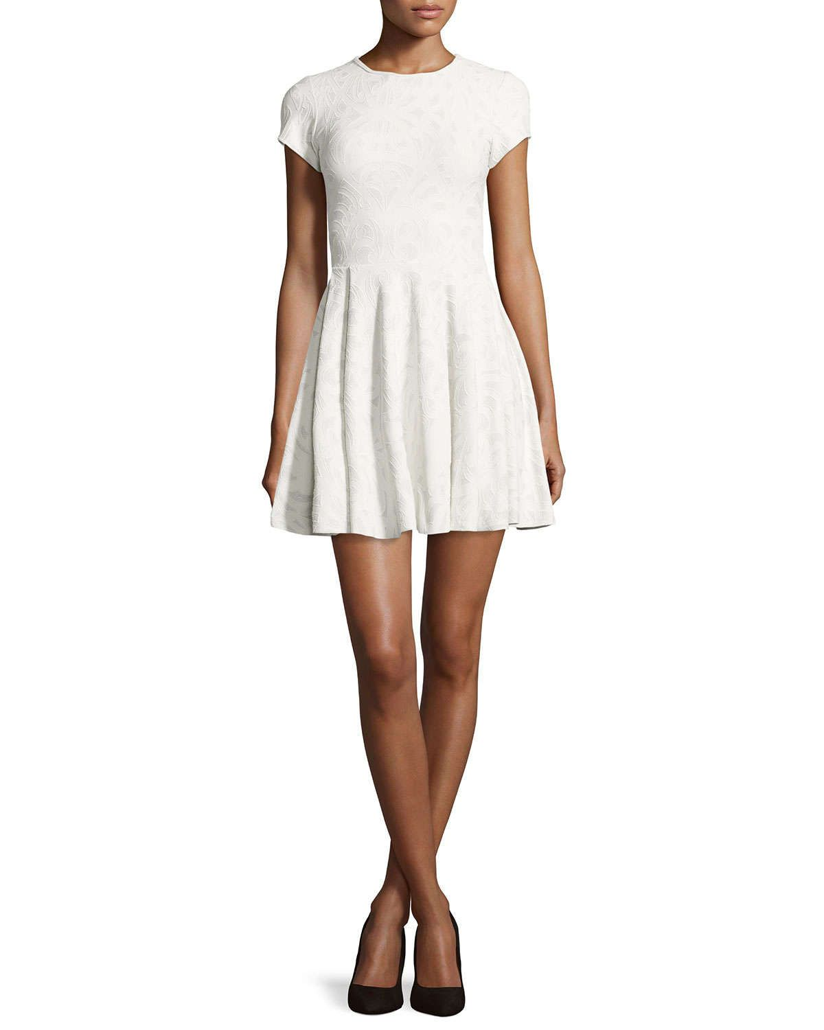 Soren Fit-and-Flare Dress, White