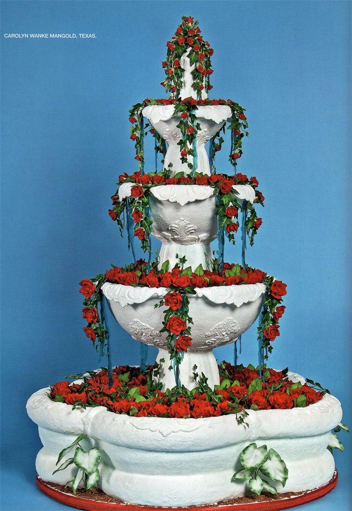 Beautiful fountain wedding cake Amazing cakes, Cake