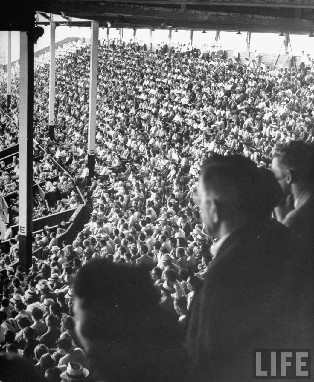 Baseball crowd from Life Magazine