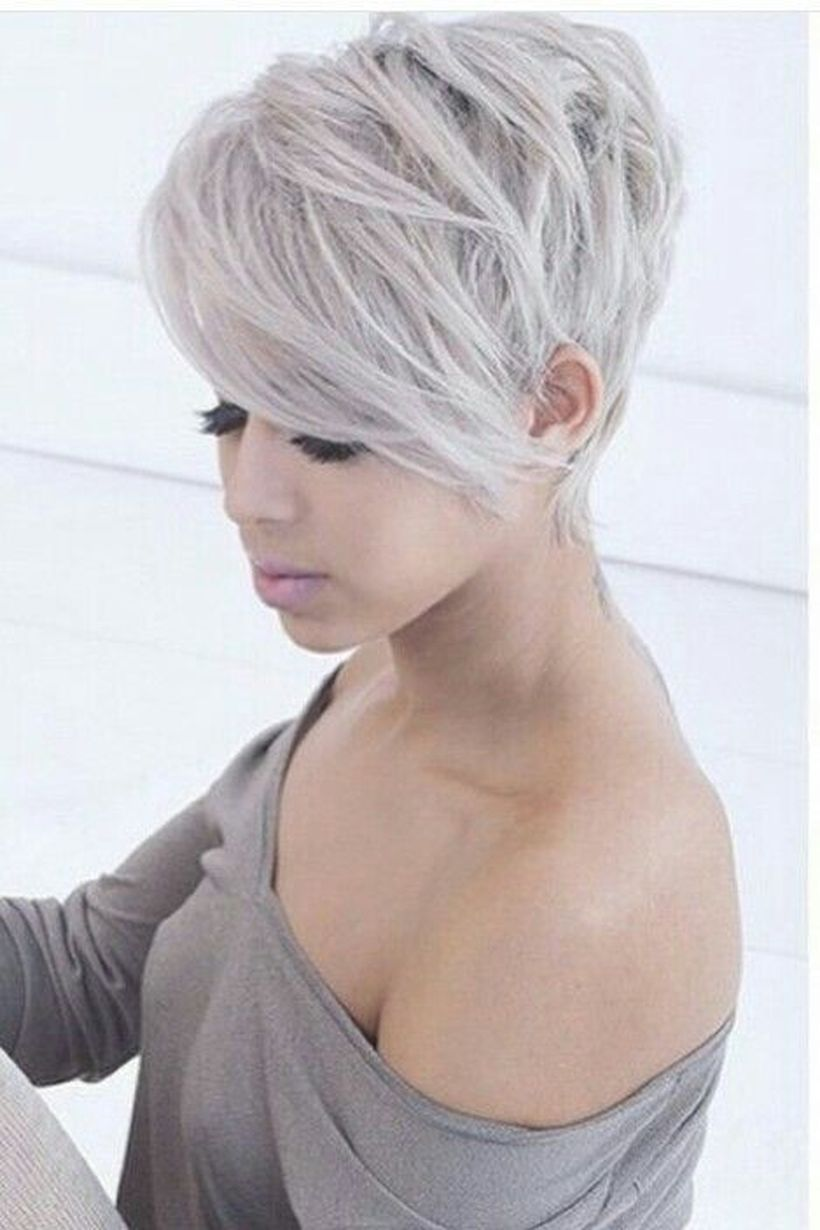 funky short pixie haircut with long bangs ideas