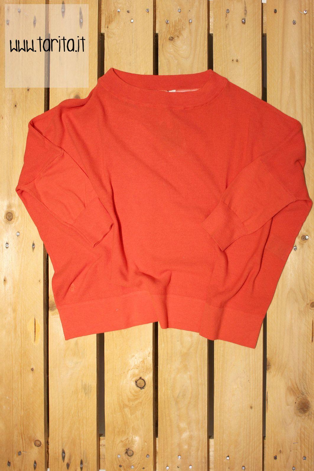 Tarita S/S 2013. Sessùn, loose fit orange top.