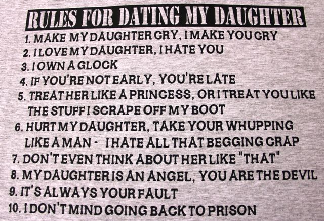 Mother's rules for dating her daughter