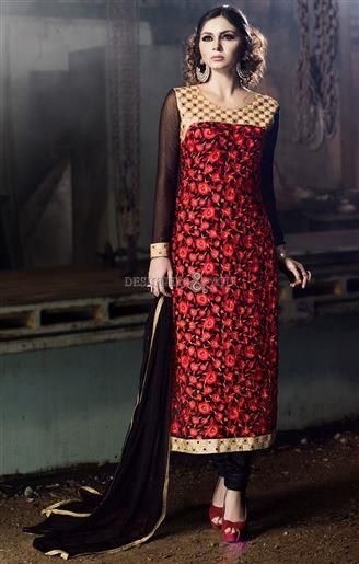 6e36550b12 #Latestdesignersuits #neckdesigns #parallelsuits model #karachichuridar  Indian Ethnic Wear, One Shoulder,