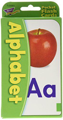 Trend Enterprises Alphabet Pocket Flash Cards Trend Enter Flashcards Alphabet Flashcards Learning Shapes