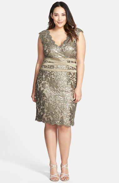 d0570b26be3a3b Tadashi Shoji Sequin Lace Sheath Dress (Plus Size) available at  Nordstrom