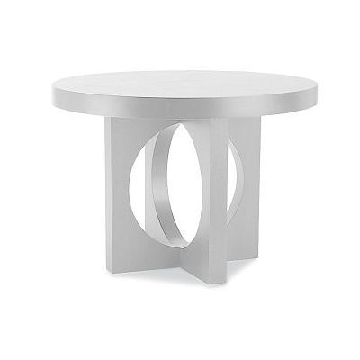 60 West Elm Round Dining Table With Cutout Legs White