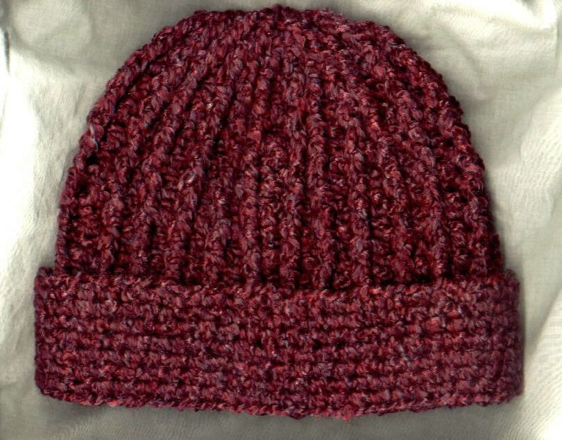 Crocheted Rib Hat by Mielke\'s Fiber Arts, LLC . Pattern included. I ...