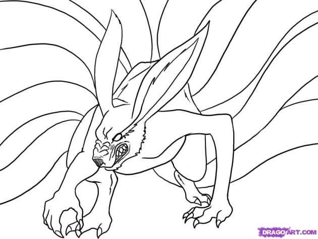 10 Nine Tailed Fox Drawing Fox Coloring Page Fox Drawing Fox Drawing Easy