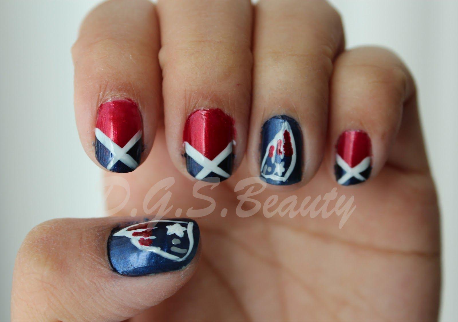 New England Patriots Nails Patriots Nail Art Patriotic Nails Design Patriotic Nails