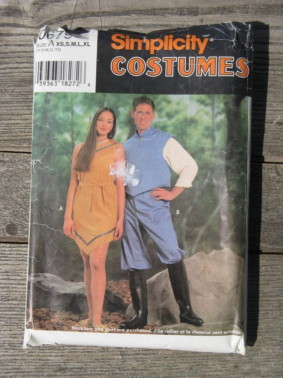 simplicity 0679 costume pattern Pocahontas by rivertownsupplies ...