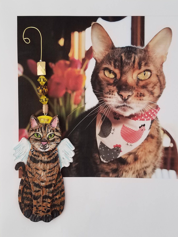 Cat Angel Custom Cat Ornament Custom Cat Portrait