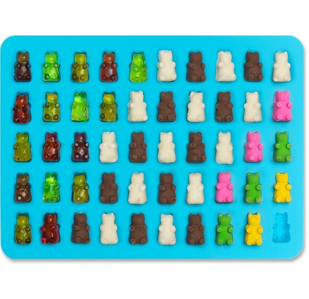 AWESOME GUMMY BEAR CANDY MOLDS - For making up to 50 cute mini 3D gummy bears at a time! Suitable for making a variety of homemade treats - whether it's colorful hard candies, candy melts, chocolates, mints or fudge!   eBay!