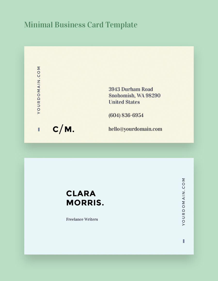 Minimal business card template minimal business cards pinterest minimal business card template more fbccfo Choice Image