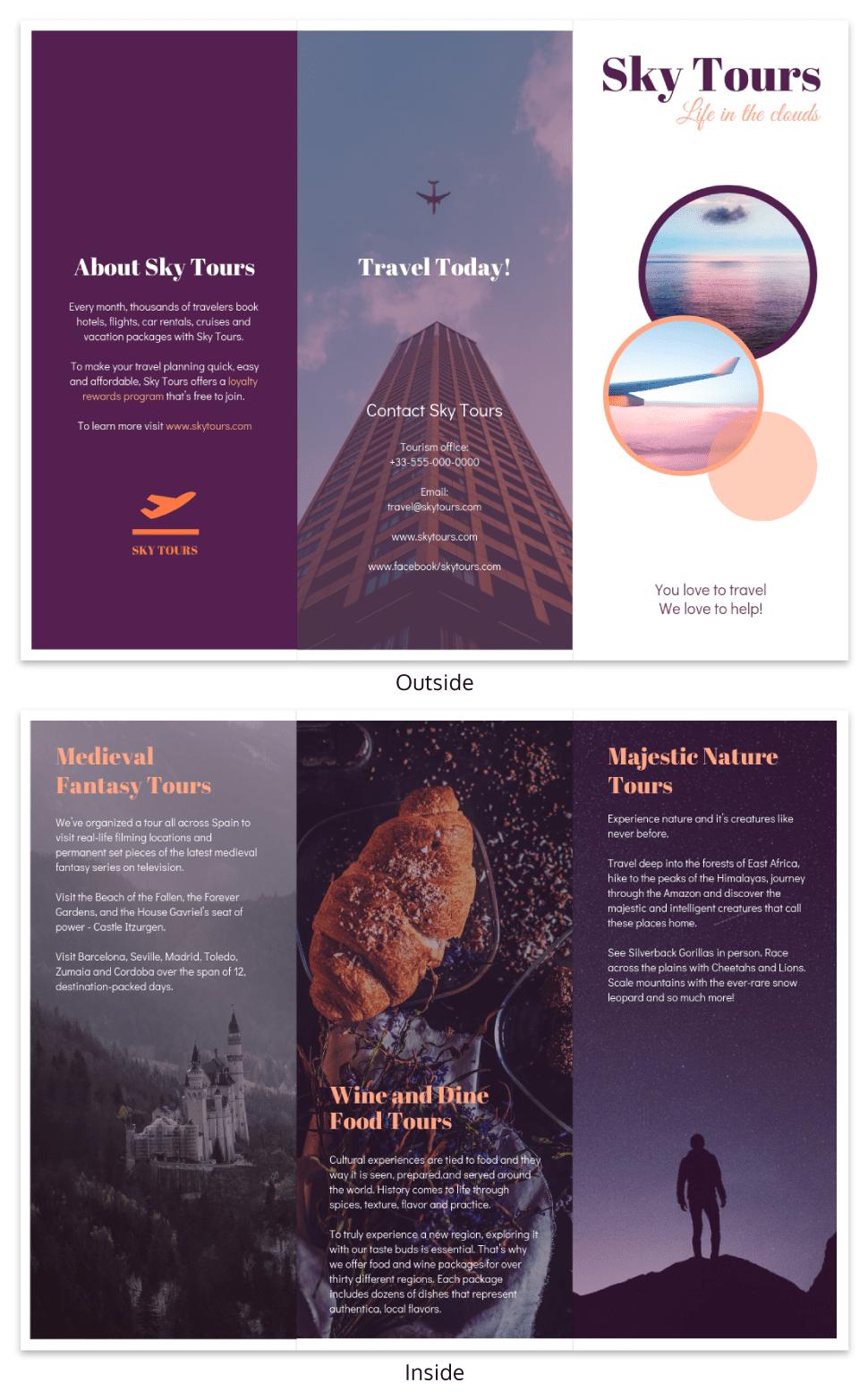 400 Customizable Tri Fold Brochure Templates Print Ready Trifold Brochure Template Trifold Brochure Brochure