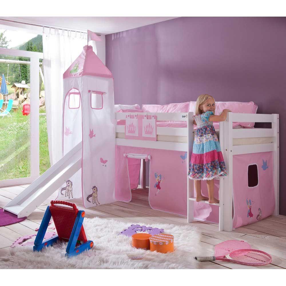prinzessin hochbett mit rutsche m dchen jetzt bestellen. Black Bedroom Furniture Sets. Home Design Ideas