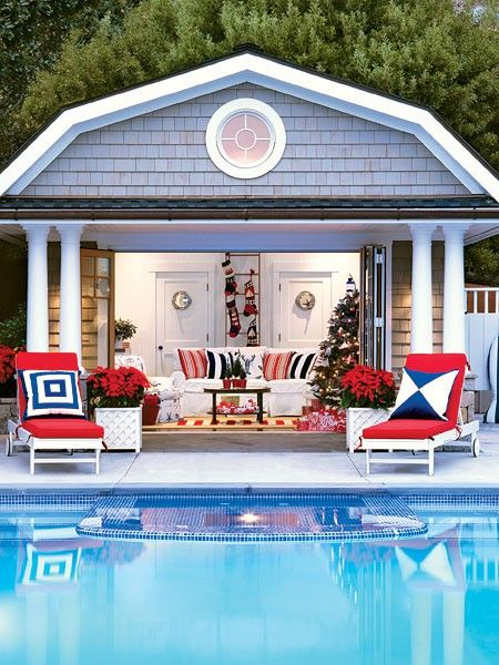 The 4th Of July Parade Backyard Pool Outdoor Rooms Pool House