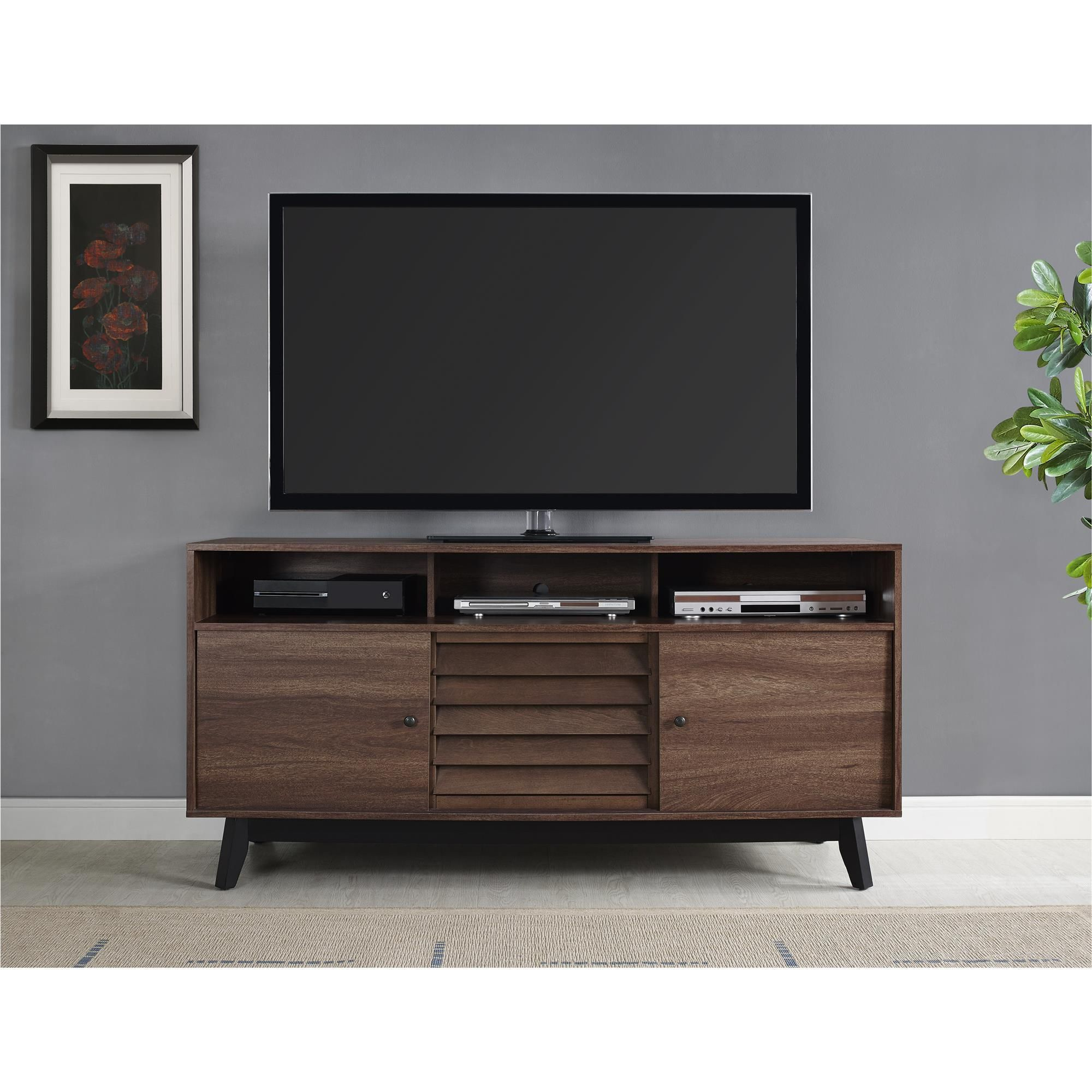 Ameriwood Home Vaughn Tv Stand For Tvs Up To 60 Inches Wide Tv