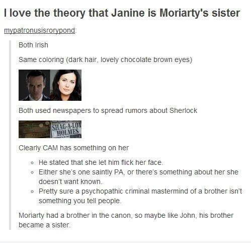 Sherlock theory!