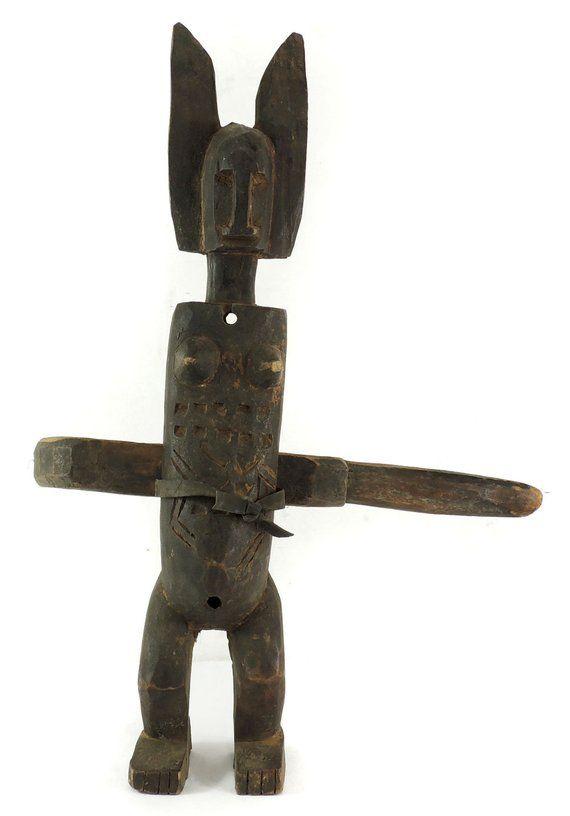 Bamana Standing Female Figural Door Lock Mali African Art 118473