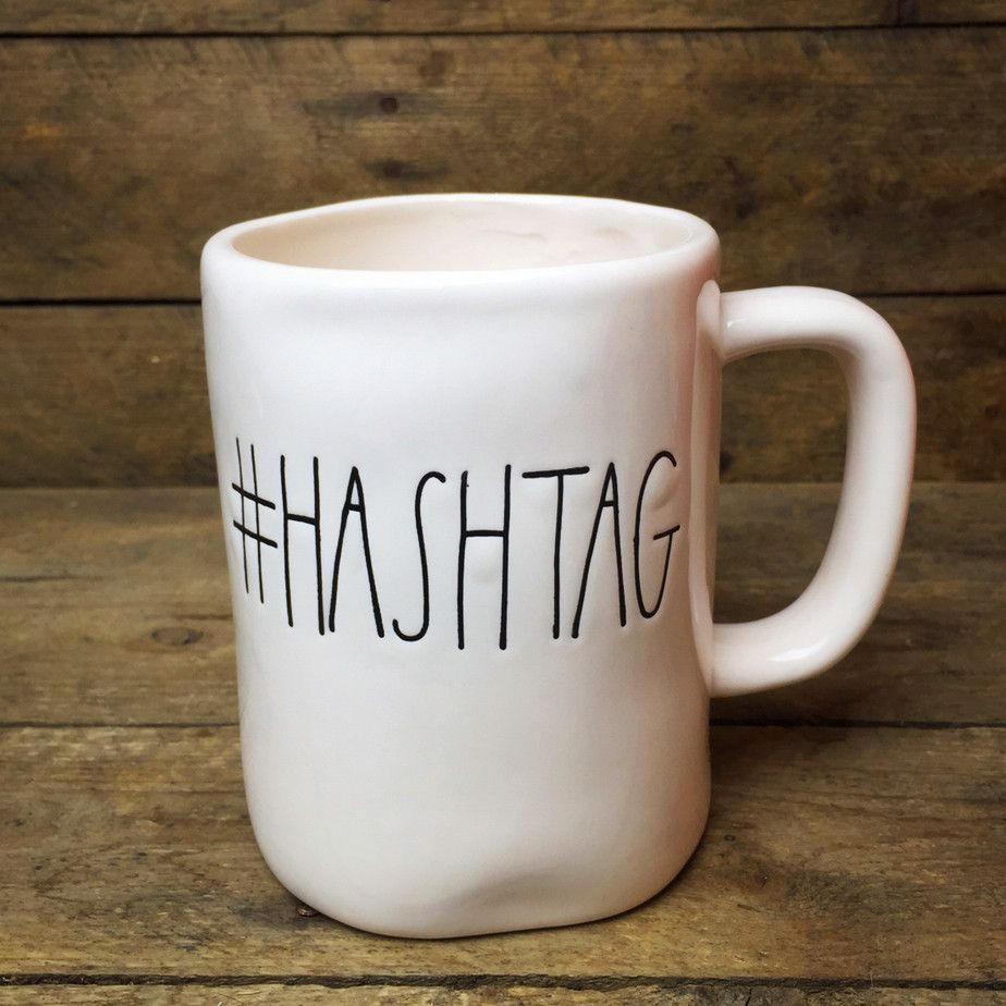 #Hashtag Coffee Mug Magenta By Rae Dunn